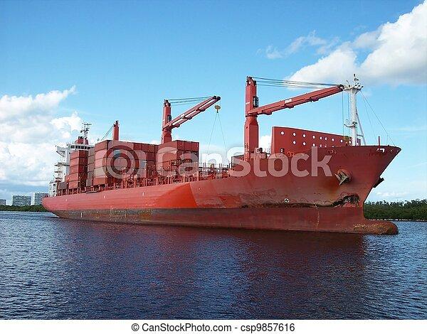 Cargo Container Ship - csp9857616