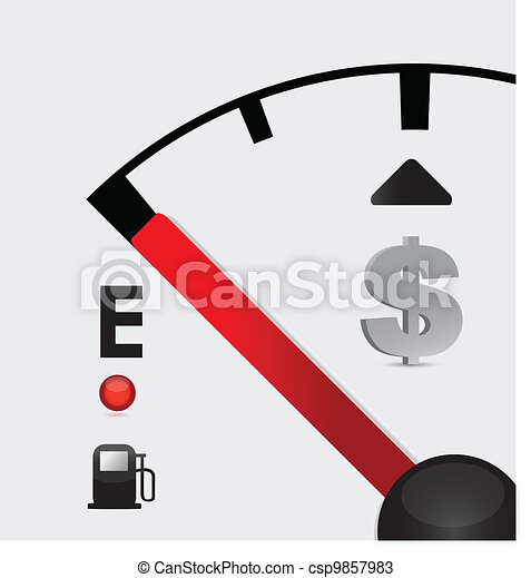 dollar sign Gas tank almost empty - csp9857983