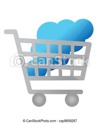 Buy cloud computing service concept - csp9858287