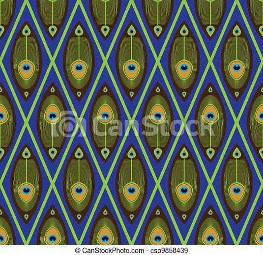 Asian seamless pattern - csp9858439