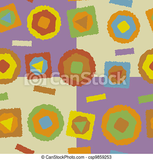 Seamless Rough Abstract Shapes - csp9859253