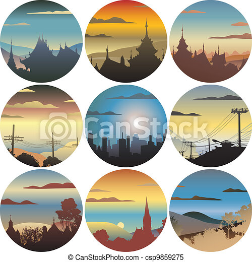 Circular views - csp9859275