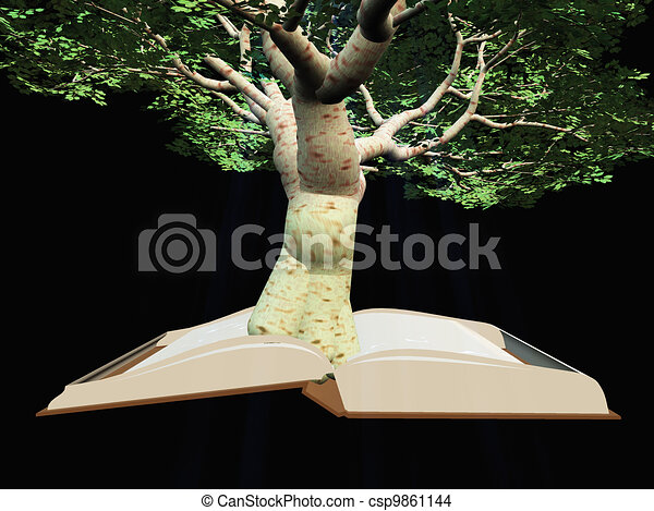 Book with tree - csp9861144