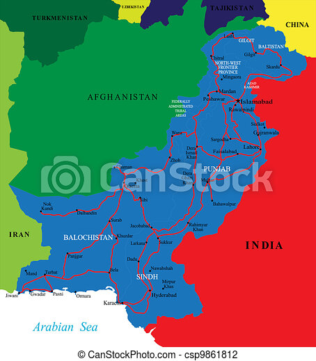 Pakistan map - csp9861812