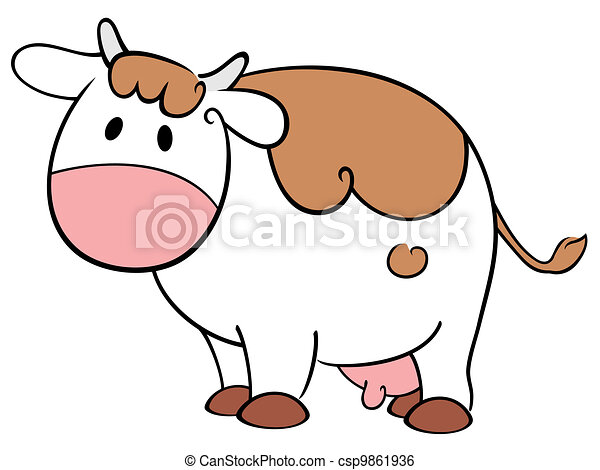 Cute cow - csp9861936