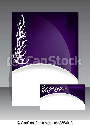Abstract tribal brochure - csp9863010