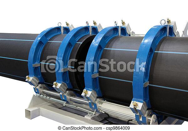 Welding of plastic pipes - csp9864009