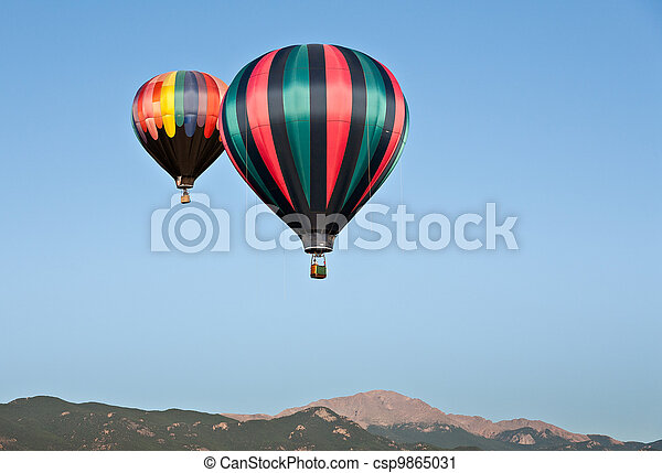 Hot Air Balloons Over Pikes Peak - csp9865031