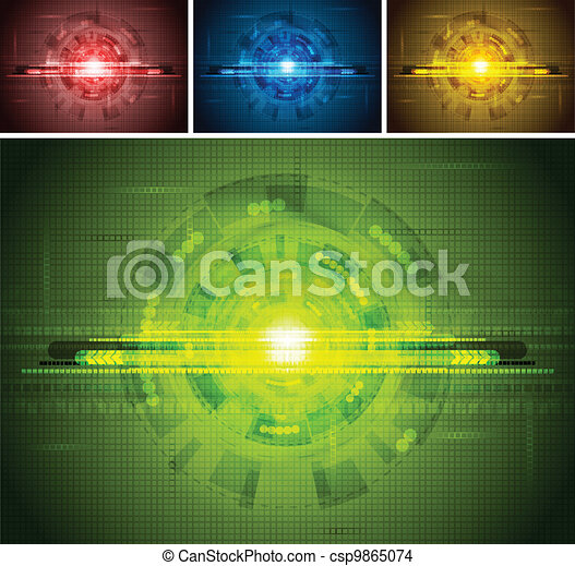 Set of tech backdrops - csp9865074