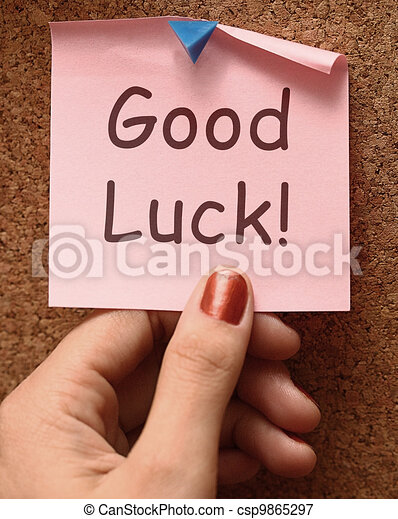 Good Luck Message Shows Best Wishes - csp9865297