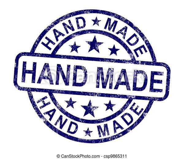 Hand Made Stamp Shows Original Handmade Artwork - csp9865311