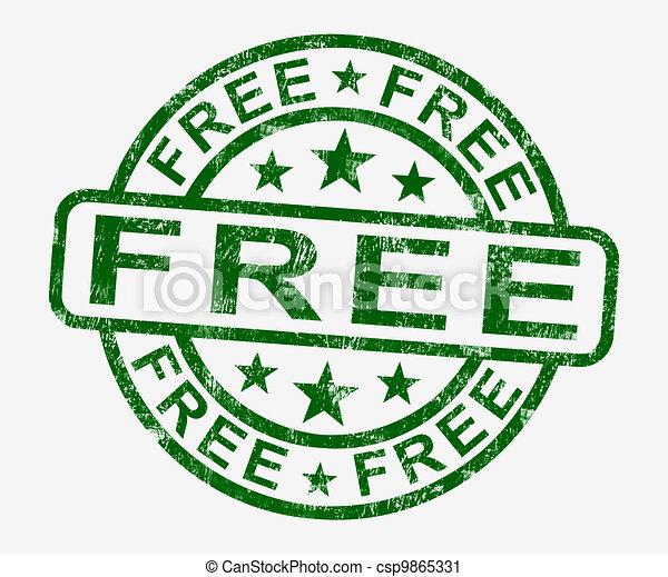 Free Stamp Showing Freebie and Promo - csp9865331