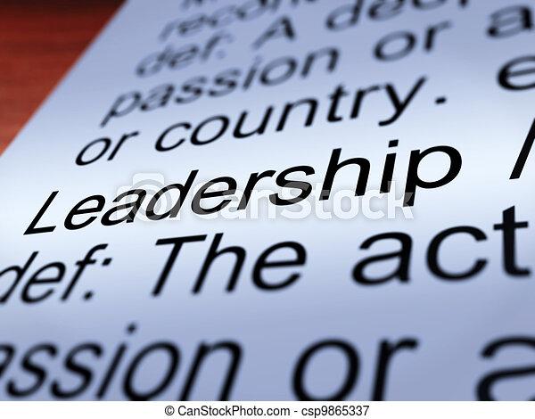 Leadership Definition Closeup Showing Achievement - csp9865337