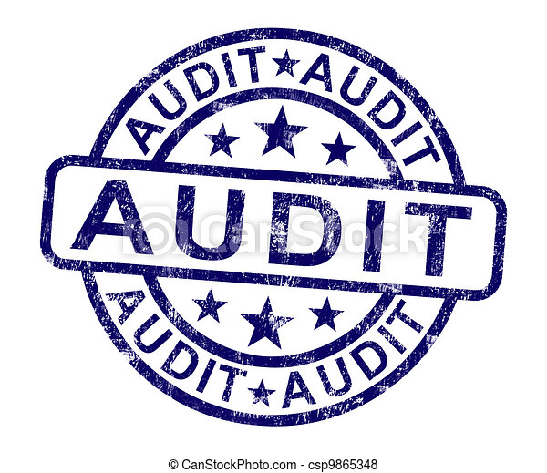 Audit Stamp Shows Financial Accounting Examination - csp9865348