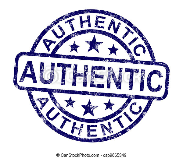 Authentic Stamp Showing Real Certified Product - csp9865349