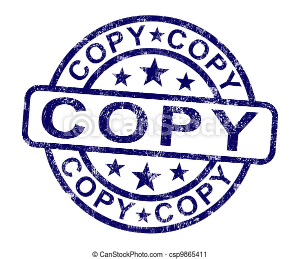 clipart of copy stamp shows duplicate replicate or reproduce