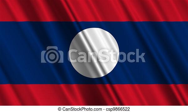Laos Flag - csp9866522