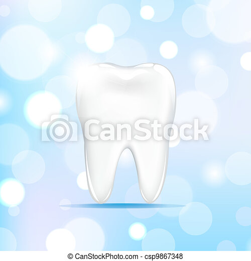 Tooth With Bokeh - csp9867348