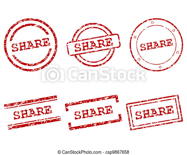 Share stamps - csp9867658