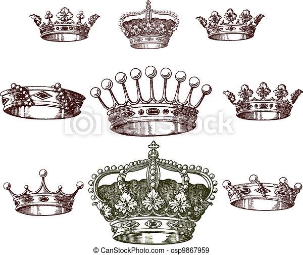 old crown set - csp9867959