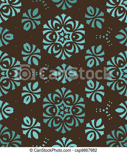 retro wallpaper - csp9867982