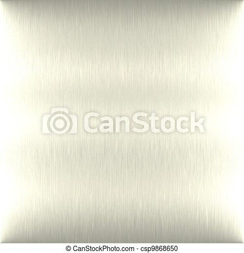 Brushed aluminum. Seamless texture. - csp9868650