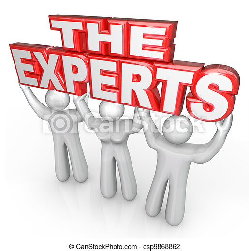 The Experts Professional People Help Solve Problem - csp9868862