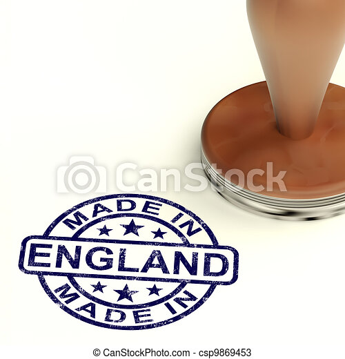 Made In England Stamp Showing English Product Or Produce - csp9869453