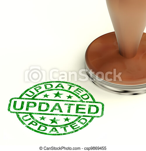 Updated Stamp Showing Improvement Upgrading And Updating  - csp9869455