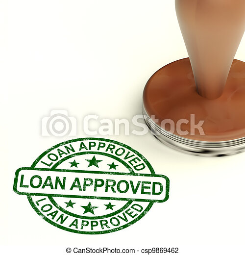 Loan Approved Stamp Showing Credit Agreement Ok - csp9869462