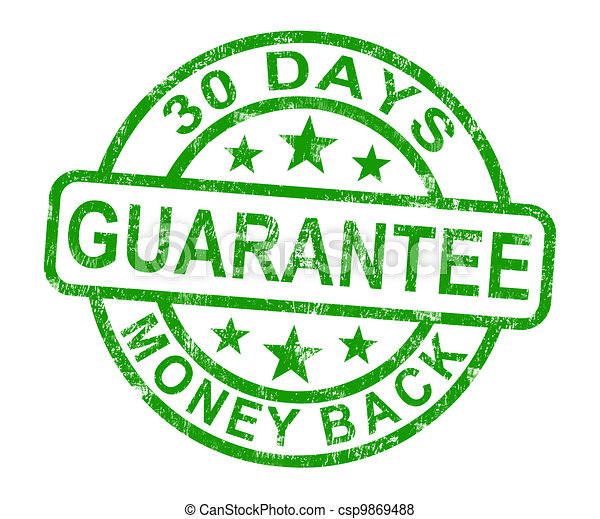 30 Days Money Back Guarantee Stamp - csp9869488