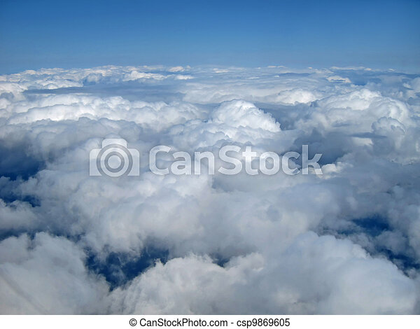 Clouds and Blue Sky Mid Air View - csp9869605
