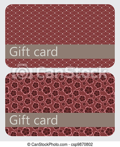 abstract beautiful set of gift card design - csp9870802