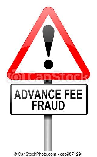 Advance fee fraud concept. - csp9871291
