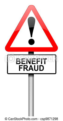 Benefit fraud concept. - csp9871298