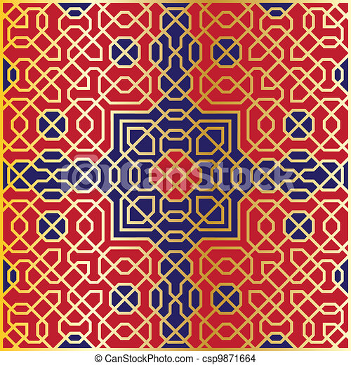 Arabesque seamless pattern - csp9871664
