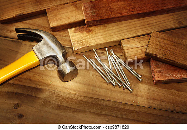 Hammer and nails - csp9871820
