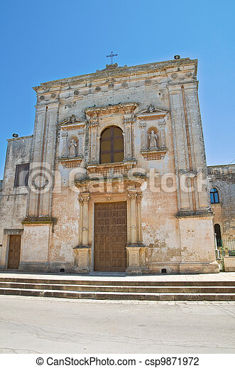 Church of Our Lady of the Grace. Soleto. Puglia. Italy. - csp9871972