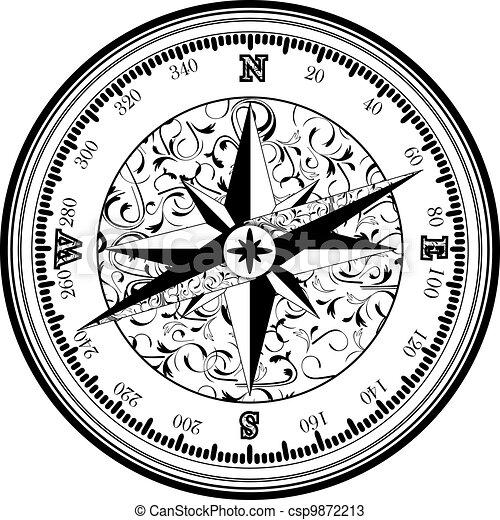Vinatge antique compass - csp9872213
