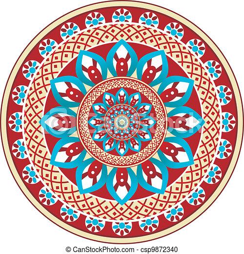 Vector paisley circle - csp9872340