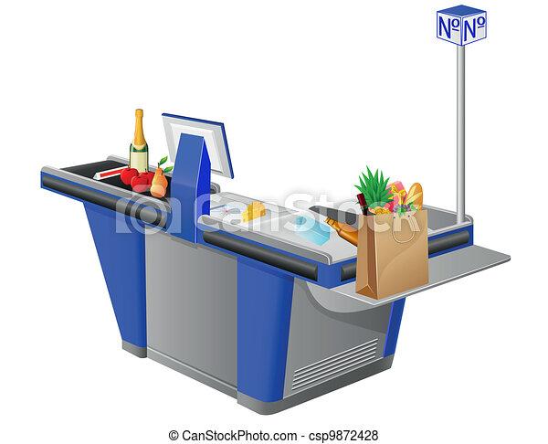 cash register terminal - csp9872428