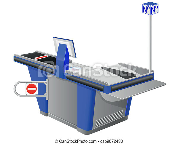 cash register terminal - csp9872430
