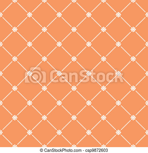 Seamless flower pattern wallpaper. EPS 8 - csp9872603