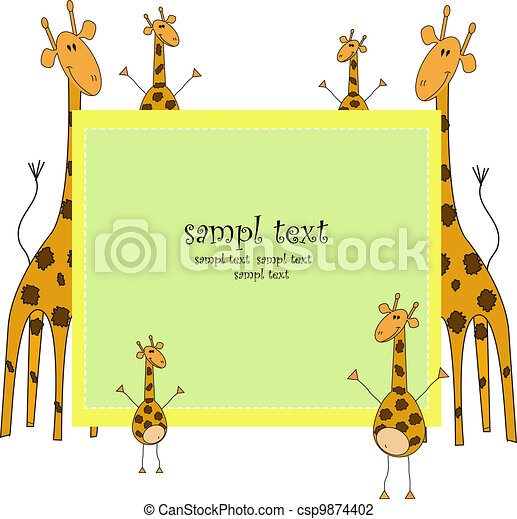 Ridiculous giraffes - csp9874402
