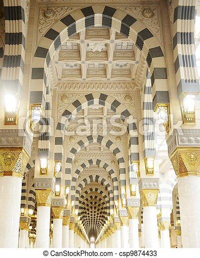Photo makkah kaaba mosqu e int rieur piliers for Interieur kaaba