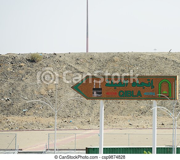 Qibla direction at Arafat