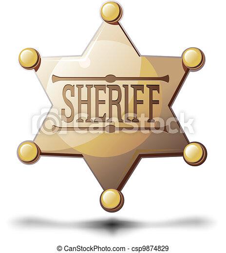 Sheriff Star - csp9874829