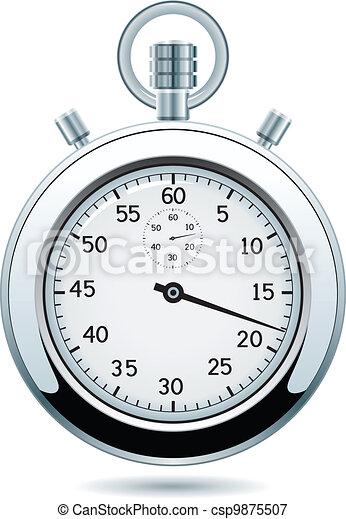vector silver stopwatch - csp9875507