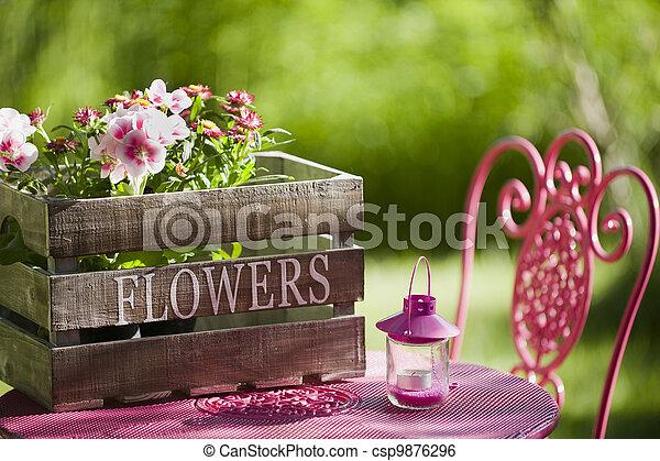 Garden idyll - csp9876296