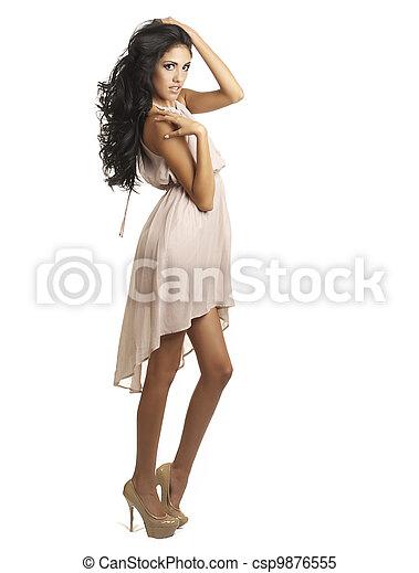 Beautiful tall woman - csp9876555